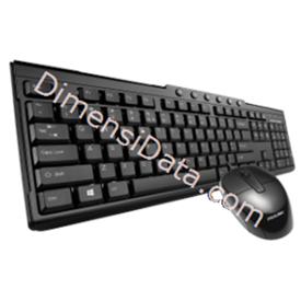 Jual Keyboard PROLINK Multimedia Desktop Combo [PCCM2001]